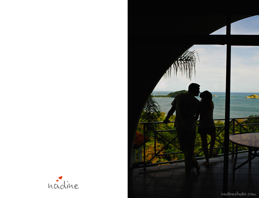sillhouette of bride and groom kissing