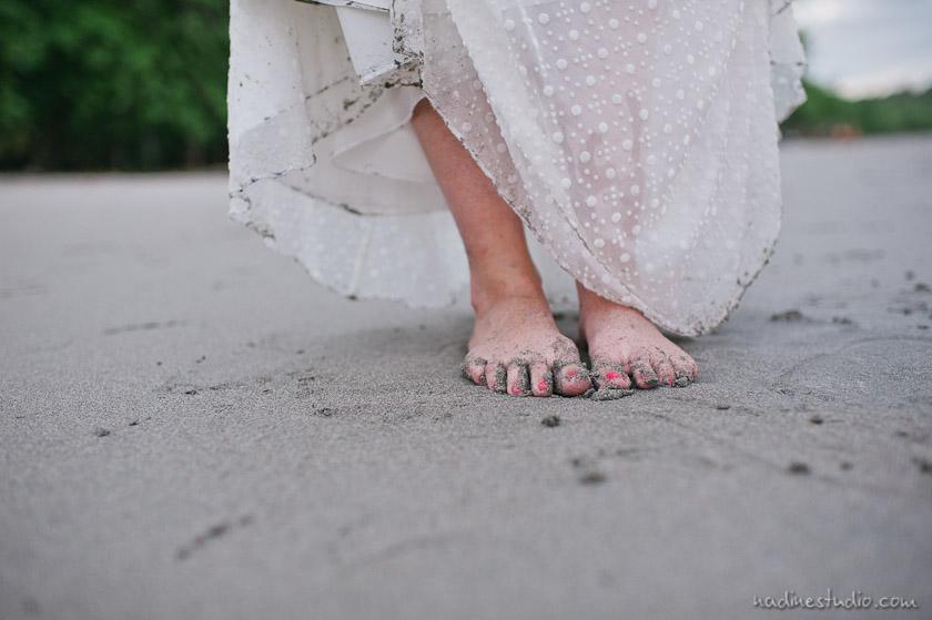 sand and feet