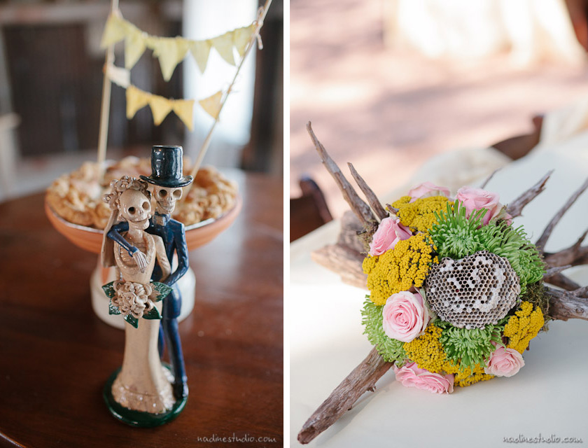 tree trunk centerpieces