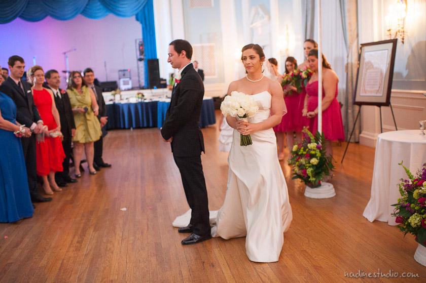 walking around a circle during a jewish wedding