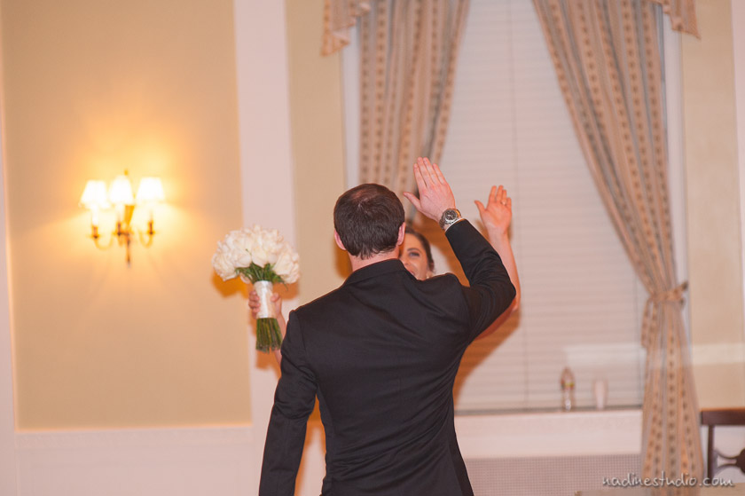 high fiving after the marriage ceremony