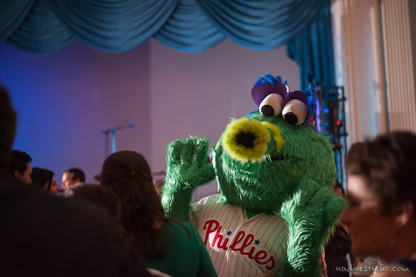 phillies fanatic dancing during the reception