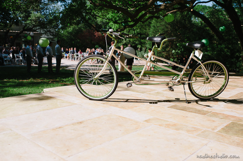 tandem bike or intandem bicycle during ceremony
