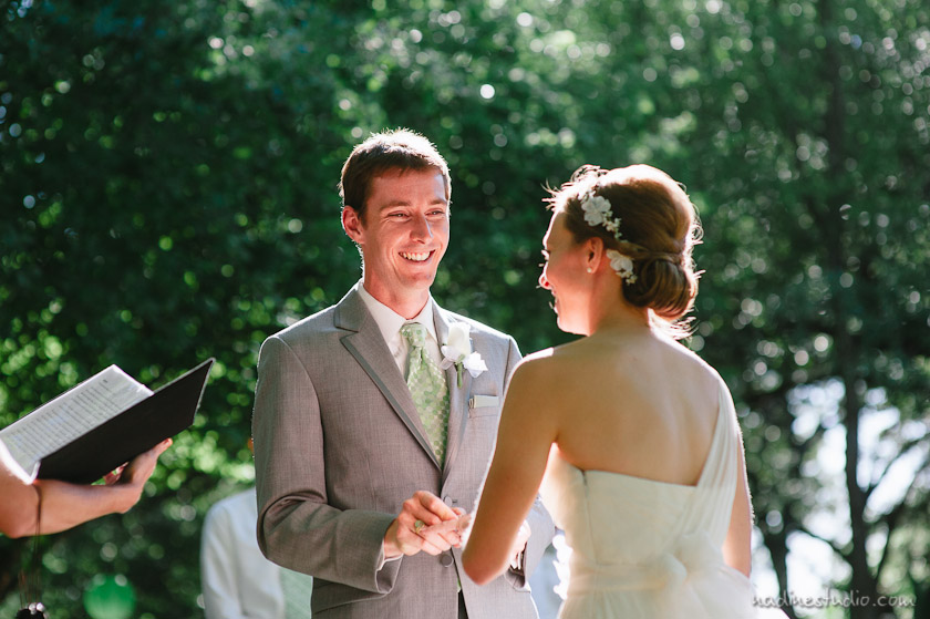 groom looking at bride with so much love