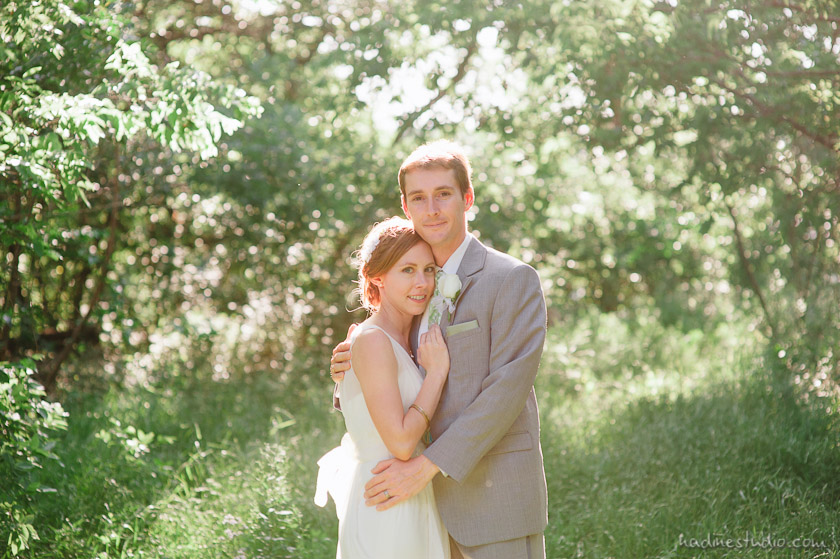 cute french american wedding