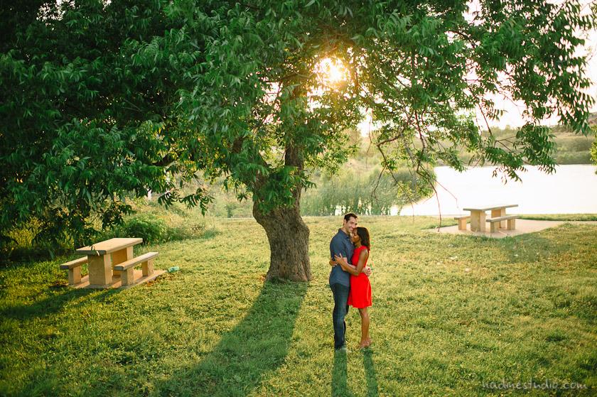 mueller park engagement photos