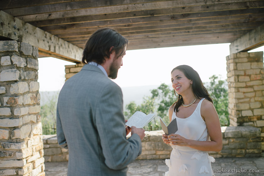 ceremony at mt bonnell