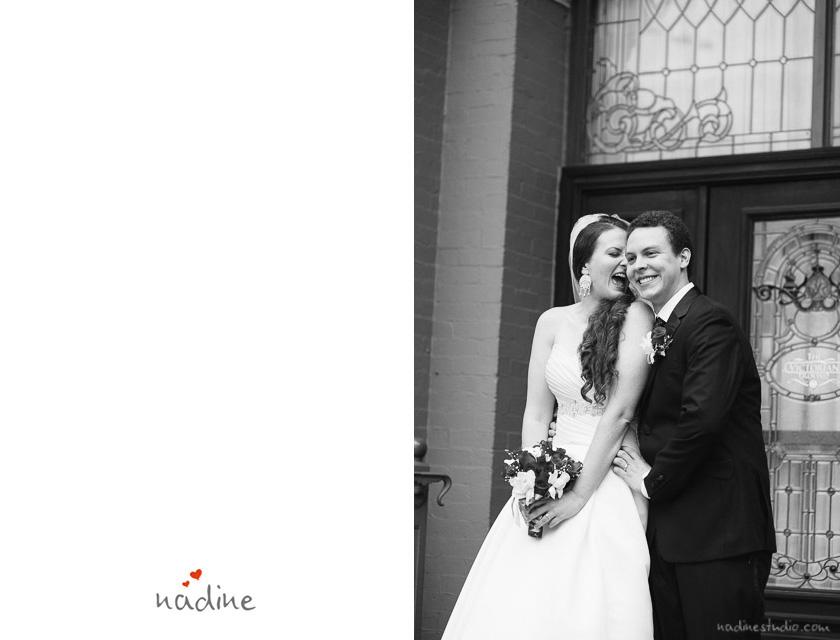 bride and groom on 6th street austin, texas