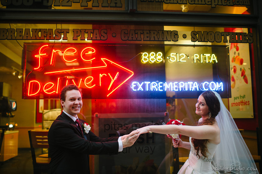bride and groom portraits downtown austin