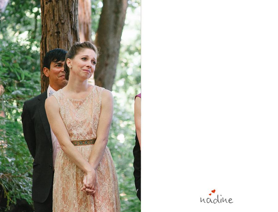 bridesmaid cyring during wedding