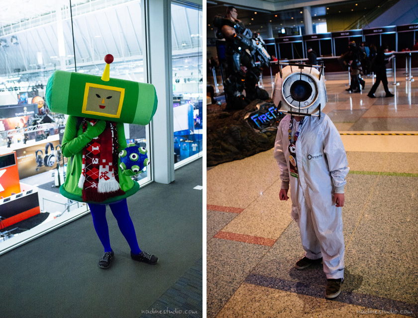 katamari damacy and aperture portal cosplay costume