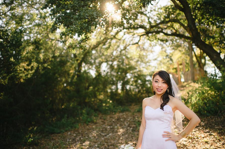 bridal portraits at kindred oaks