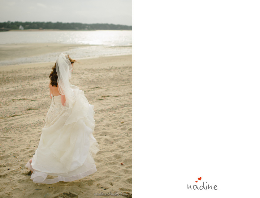 duxbury beach wedding portraits