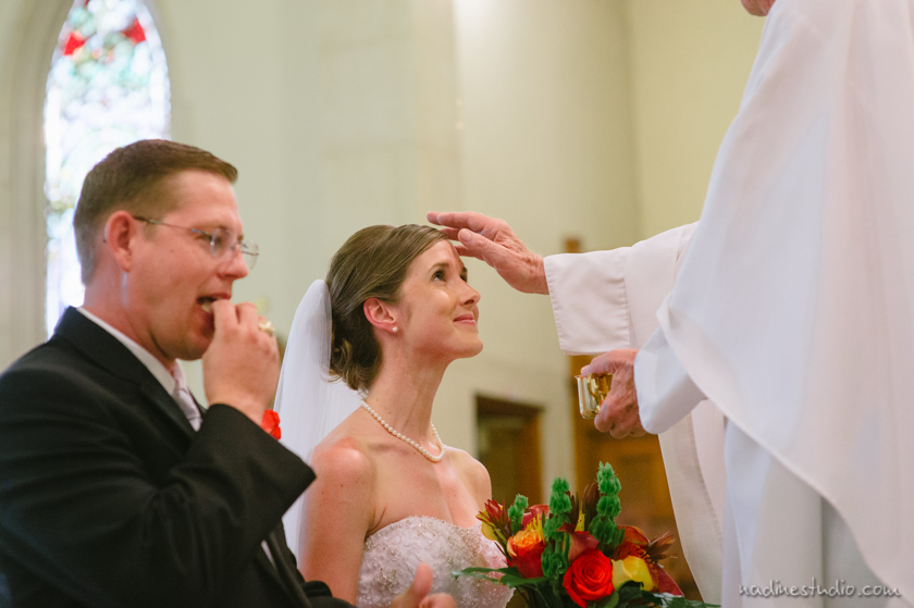 communion during a wedding