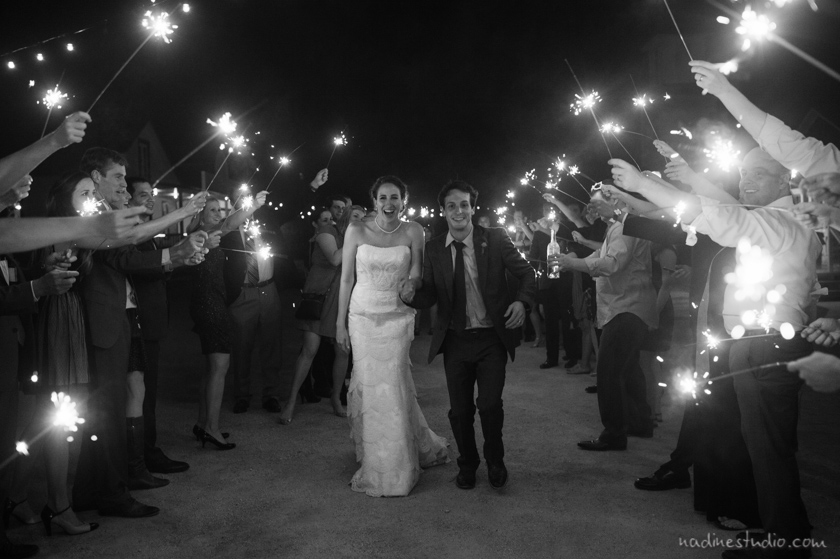 star hill ranch black and white sparkler exit