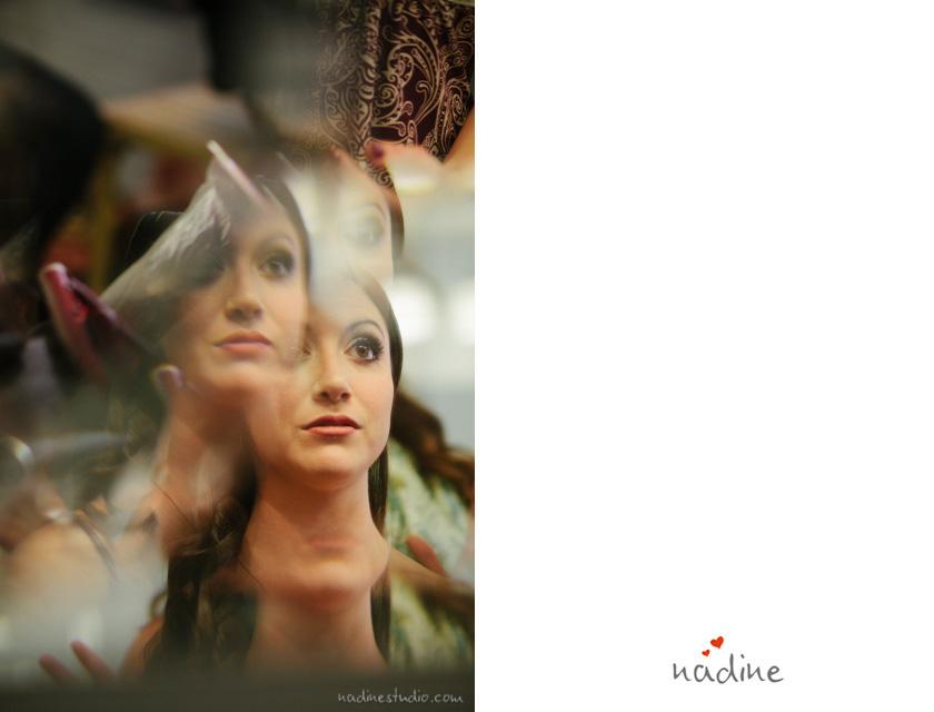 reflectiosn of bride