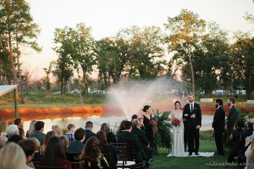 a backyard wedding in bastrop texas