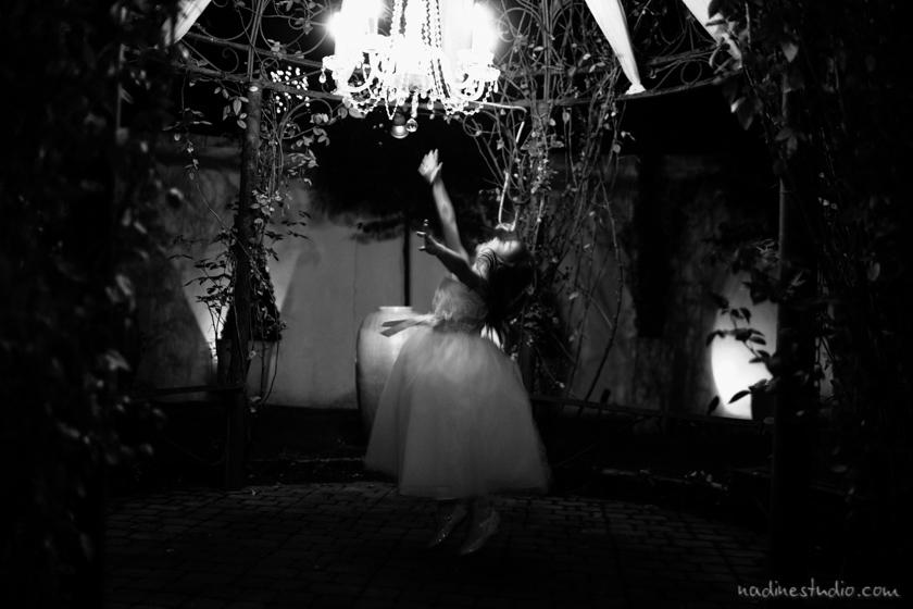 flowergirl dancingin black and white