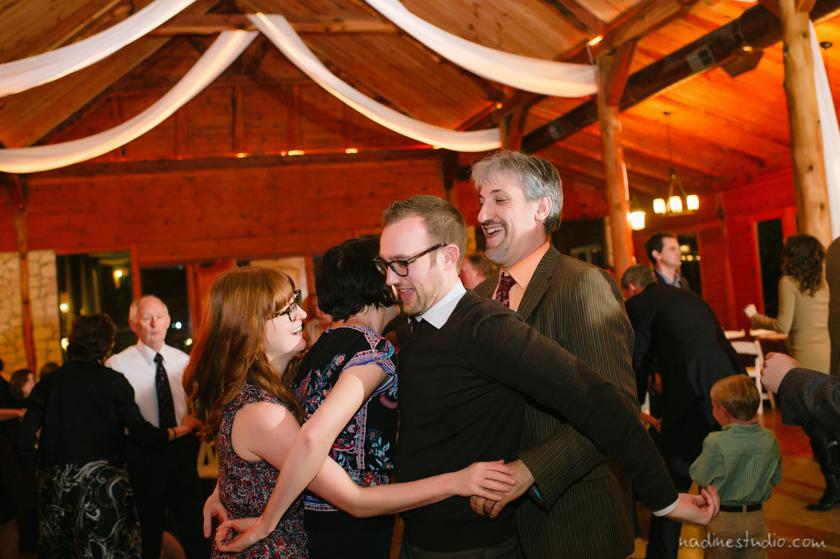 improvisors at a wedding