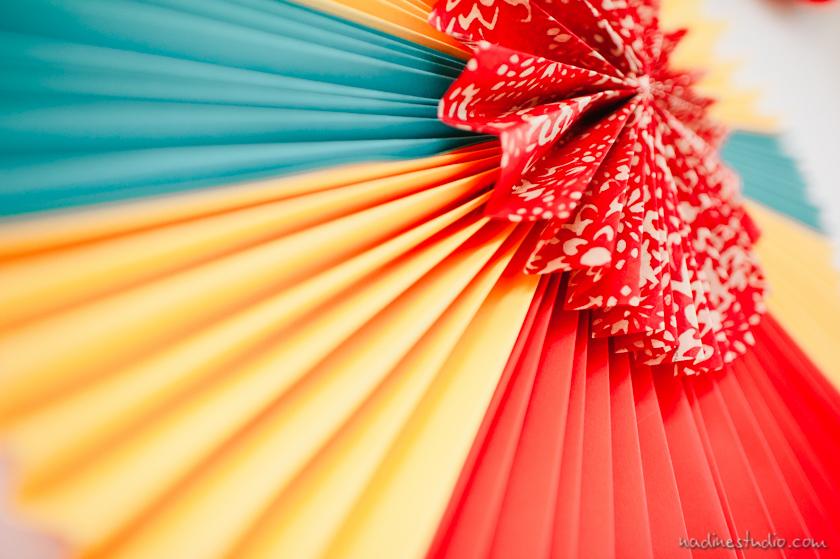 colorful fan