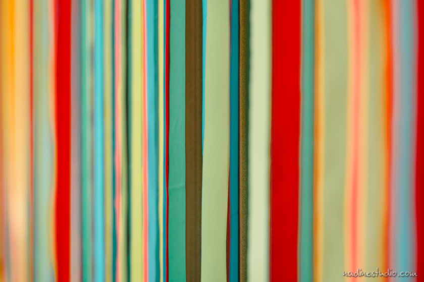 colorful ribbon backdrop or background for wedding