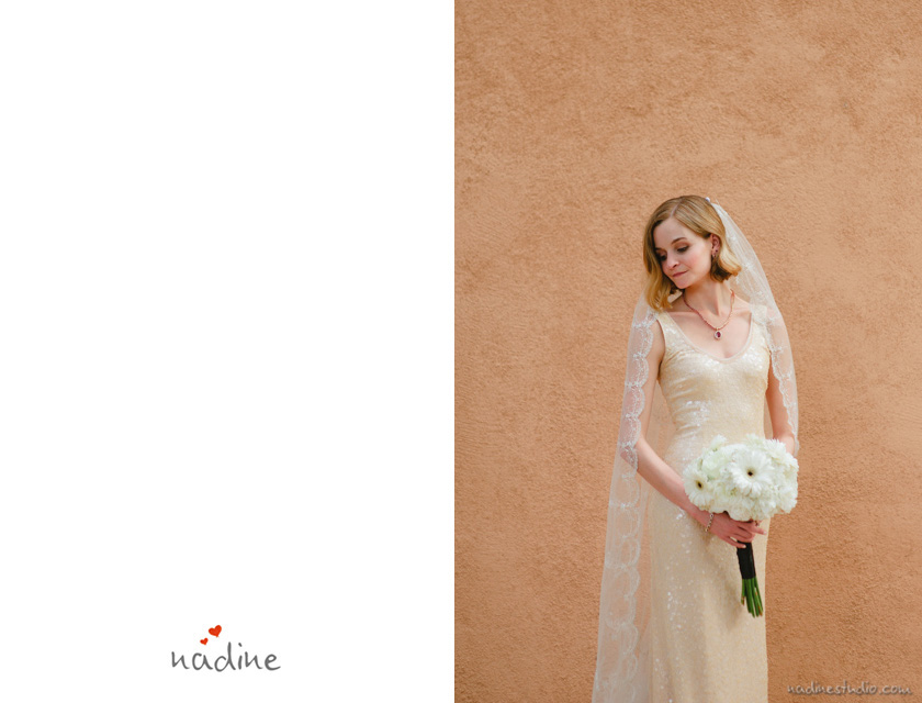 bridal portrait at unm alumni chapel