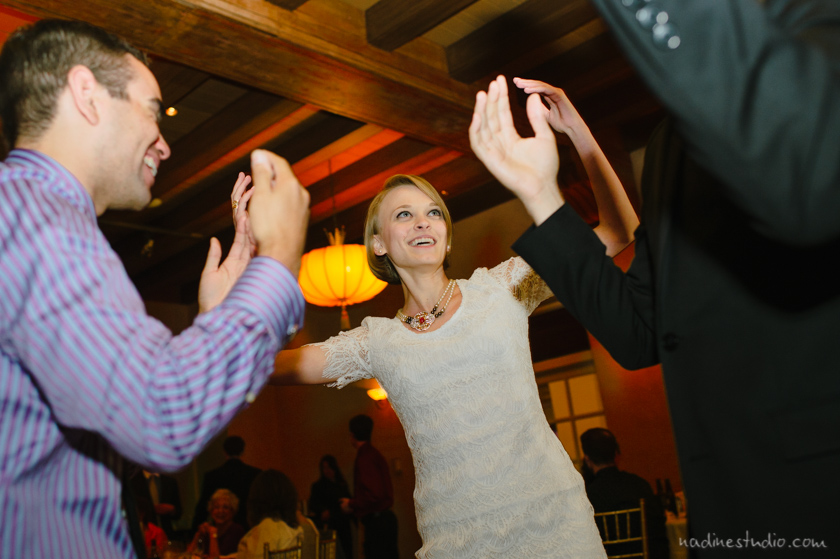 dancing happily