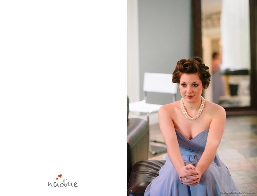 gray blue bridal dress