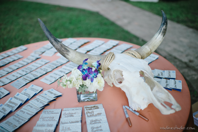 longhorn decor for wedding