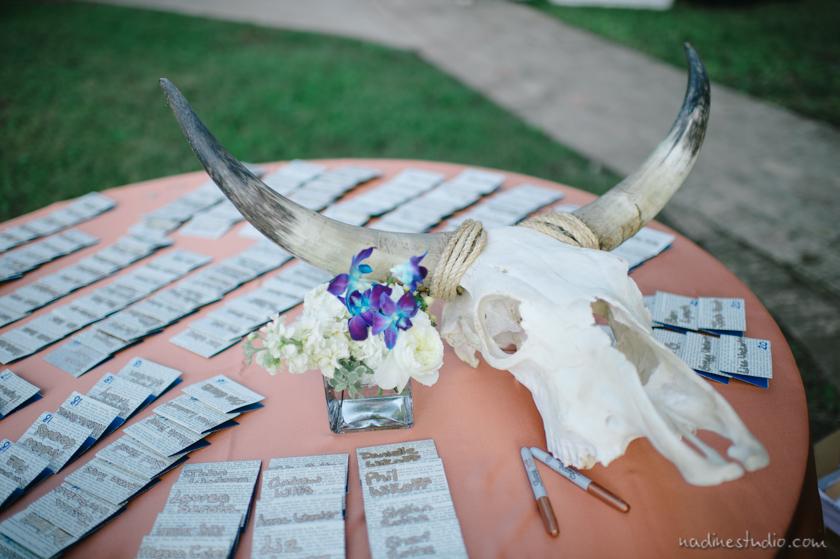 longhorn decor for wedding