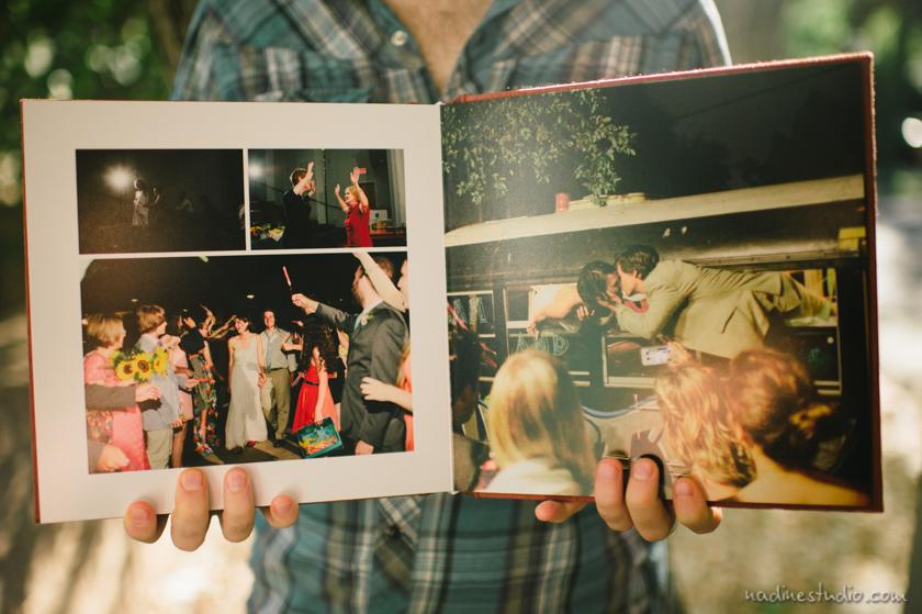 silk linen wedding albums in austin, texas