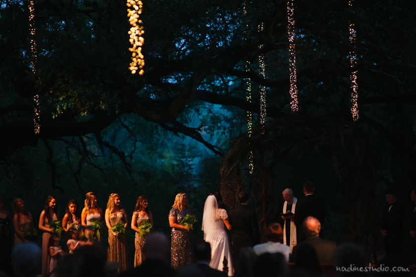 night time ceremony at sacred oaks