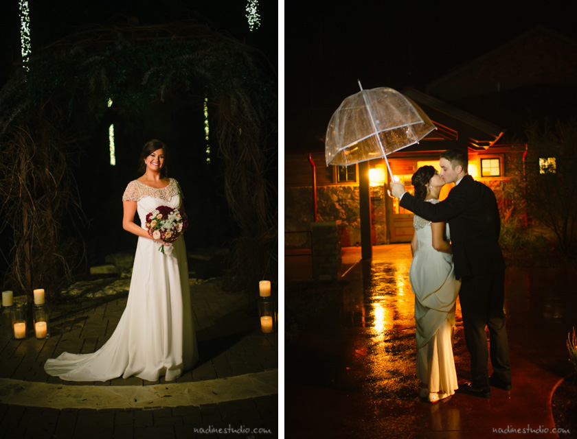 clear umbrella wedding