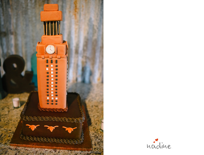 ut long horn wedding cake
