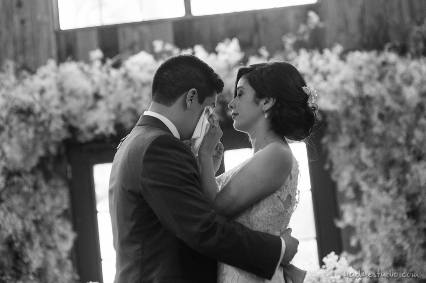 wedding at vista west ranch bride crying