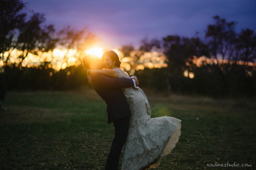 gorgeous sunset portrait