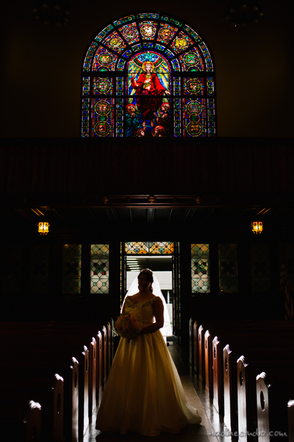 central christian church sillouette wedding