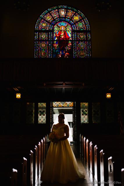 central christian church sillouette wedding