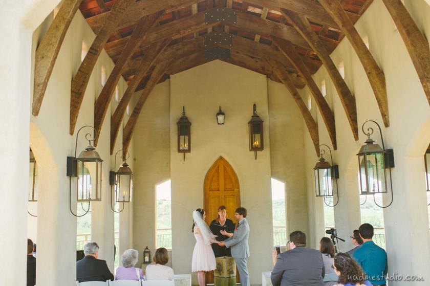 wedding ceremony in chapel dulcinea
