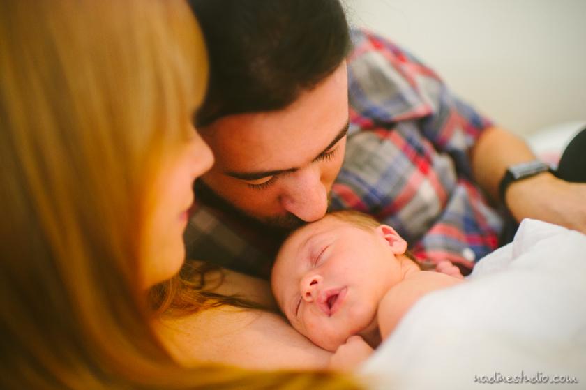 austin family and newborn baby