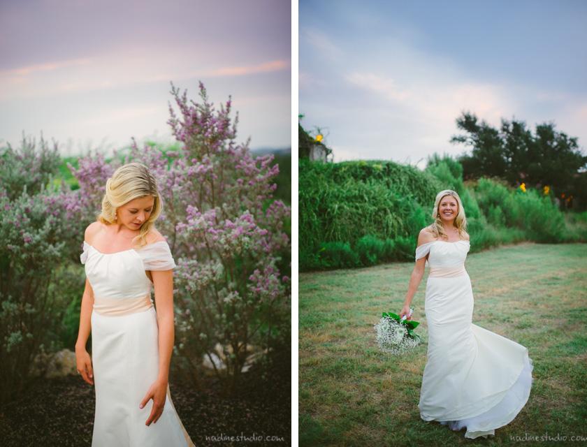 bridal portraits vintage villas wedding