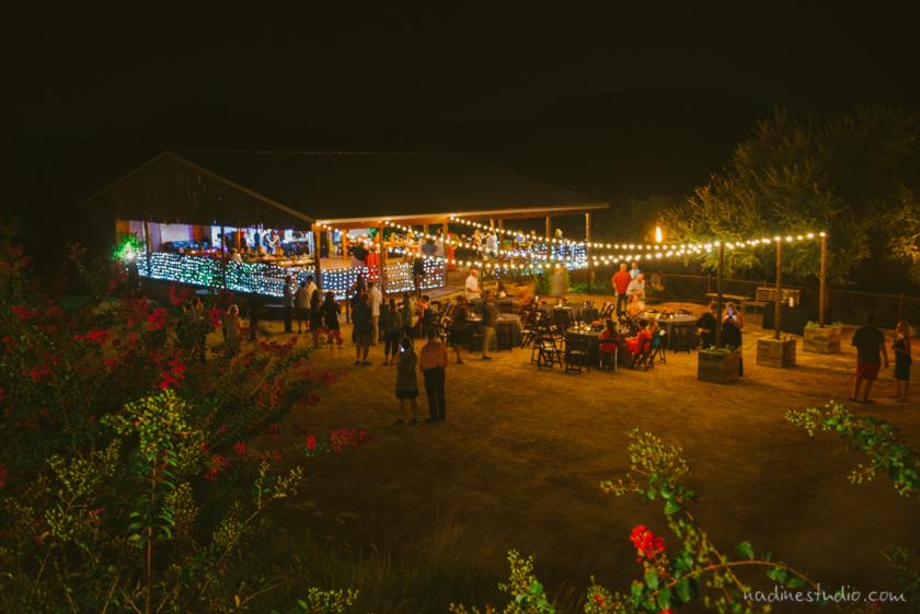 night shot of venue