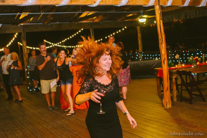 crazy hair at reception