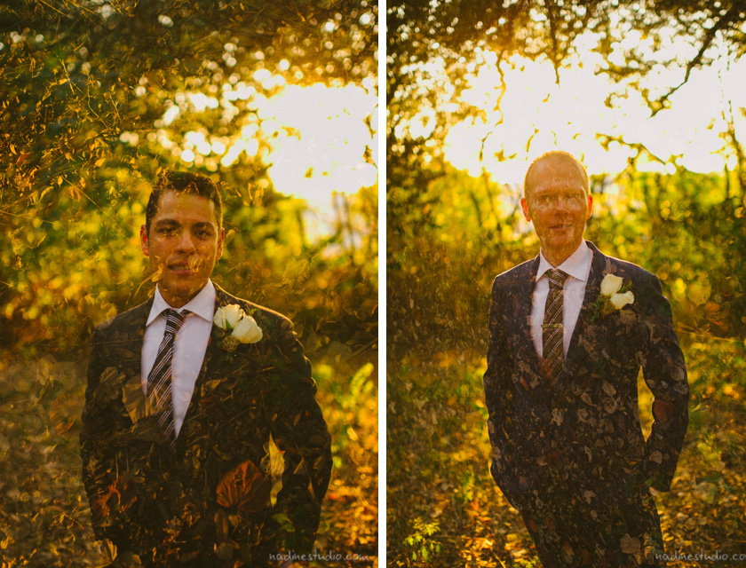 double exposure gay wedding