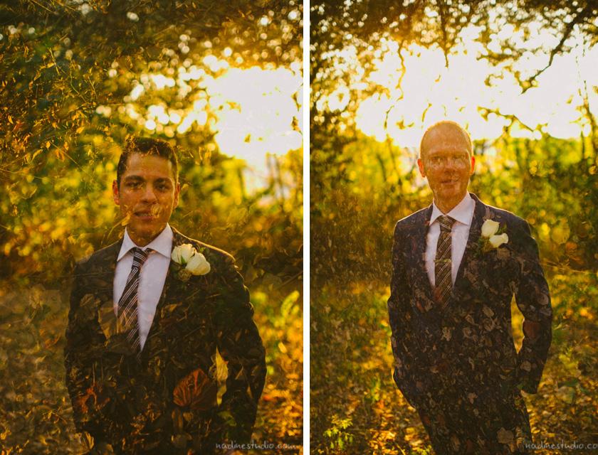 double exposure gay wedding