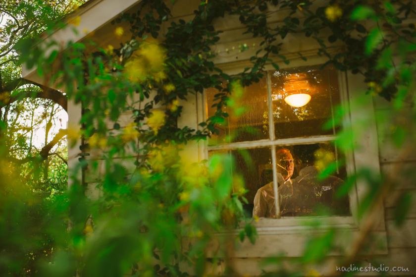 the groom through a window at mercury hall
