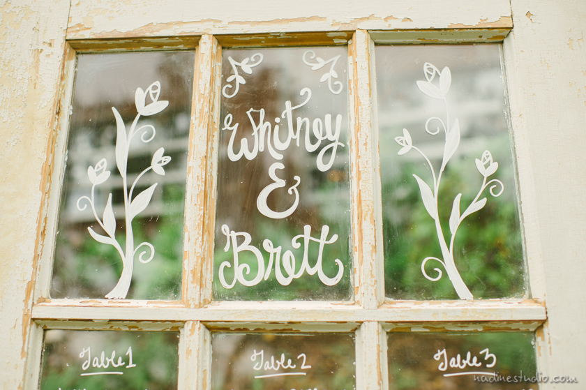 glass window pane with writing