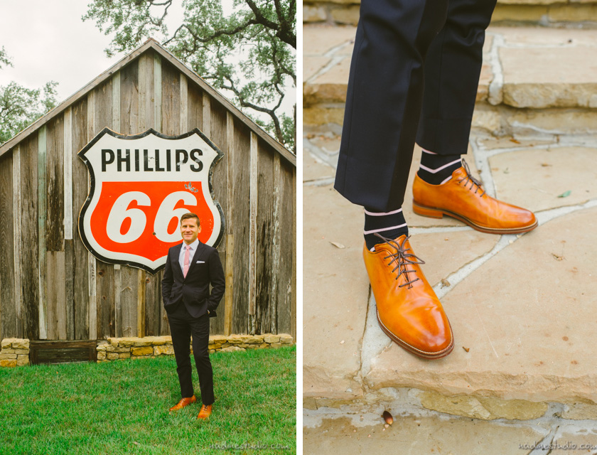 cole haan shoes on the groom