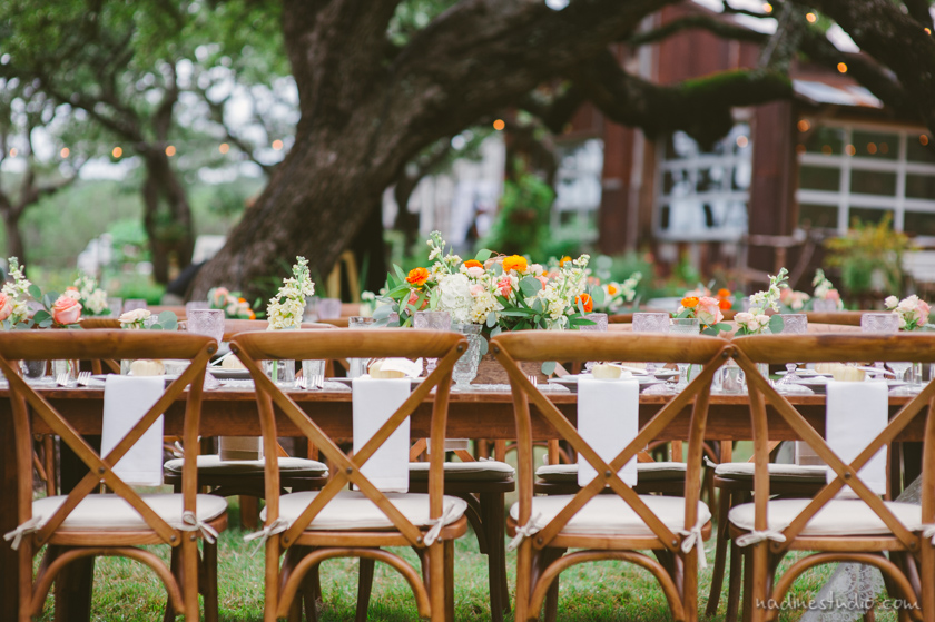 beautiful wooden back chairs in a ranch