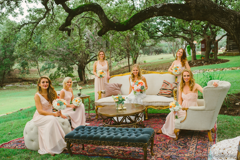 bridal party seated